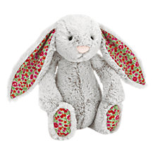 Buy Jellycat Blossom Bunny Plush, Medium, Grey Online at johnlewis.com
