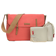 Buy Storksak Ashley Messenger Changing Bag, Coral Online at johnlewis.com