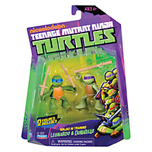 Buy Teenage Mutant Ninja Turtles Ninjas In Training Figures, Donatello and Leonardo Online at johnlewis.com