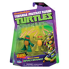 Buy Teenage Mutant Ninja Turtles Ninjas In Training Figures, Michelangelo and Raphael Online at johnlewis.com