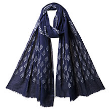 Buy East Sheer Cotton Booti Print Scarf Online at johnlewis.com