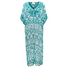 Buy East Sol Print Georgette Kaftan, Peacock Online at johnlewis.com