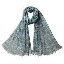 Buy East Anokhi Bellmey Scarf, Duck Egg Online at johnlewis.com