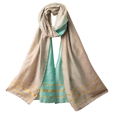 Buy East Ombre Scarf, Duck Egg Online at johnlewis.com