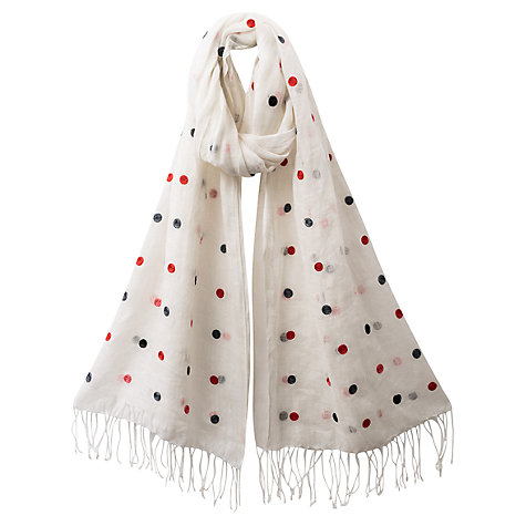 Buy East Embroidered Spot Scarf, Multi Online at johnlewis.com