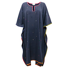 Buy East Sequin Embroidered Kaftan, Indigo Online at johnlewis.com