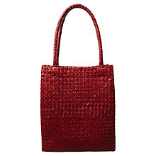 Buy East Wicker Bag, Tomato Online at johnlewis.com