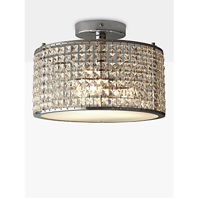 i4DZINE Victory Crystal Bathroom Semi-Flush Light