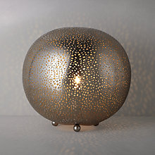 Buy John Lewis Lyra Etched Metal Table Lamp Online at johnlewis.com