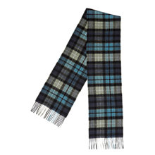 Buy Barbour Merino Cashmere Tartan Scarf, Black Online at johnlewis.com