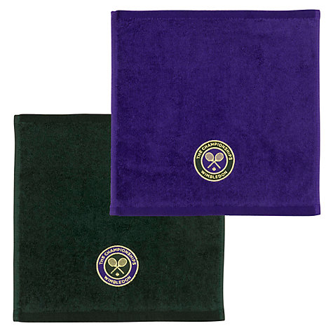 Buy Wimbledon Men's Championship Facecloths, Pack of 2 Online at johnlewis.com
