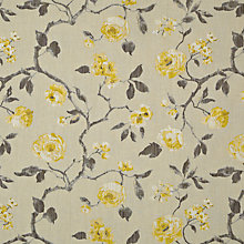 Buy John Lewis Linen Rose Curtain, Yellow Online at johnlewis.com