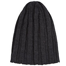 Buy John Smedley Hindburn Pure Merino Wool Hat, One Size, Charcoal Online at johnlewis.com