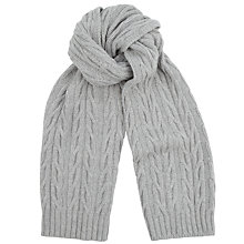 Buy John Smedley Lakes Imperial Wool & Cashmere Scarf, Grey Online at johnlewis.com