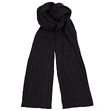 Buy John Smedley Petteril Merino Scarf, Charcoal Online at johnlewis.com