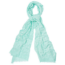Buy Phase Eight Dotty Scarf, Aqua Online at johnlewis.com