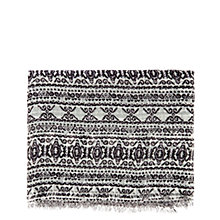 Buy Warehouse Paper Lace Scarf, Black Online at johnlewis.com