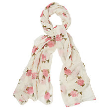 Buy Phase Eight Tula Scarf, Cream Online at johnlewis.com