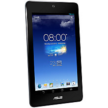 "Buy Asus MeMO Pad HD 7, Quad-core MediaTek MT8125, Android, 7"", Wi-Fi, 16GB, Blue Online at johnlewis.com"
