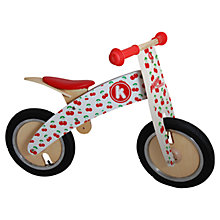 Buy Kiddimoto Kurve Balance Bike, Cherry Online at johnlewis.com