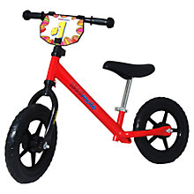 Buy Kiddimoto Junior Balance Bike, Red Online at johnlewis.com