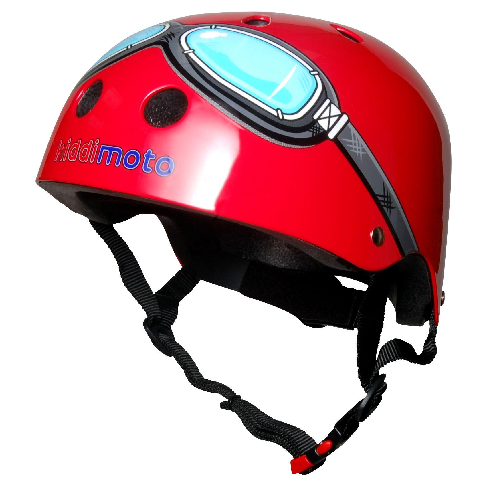 Kiddimoto Kiddimoto Red Goggles Helmet, Small