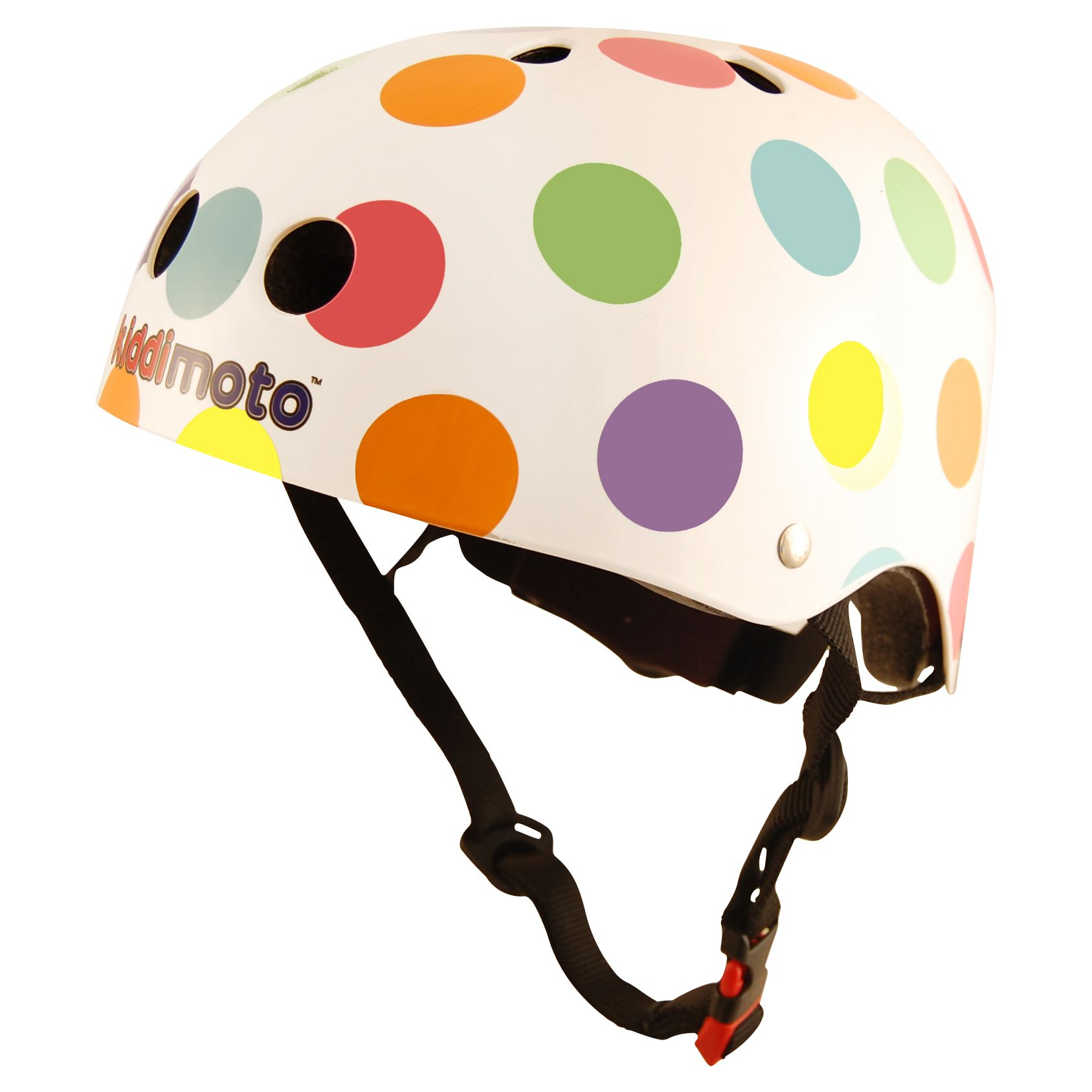 Kiddimoto Kiddimoto Pastel Dotty Helmet, Small