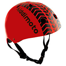 Buy Kiddimoto Red Tyre Print Helmet, Small Online at johnlewis.com