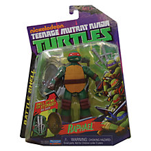 Buy Teenage Mutant Ninja Turtles Raphael Battle Shell Figure Online at johnlewis.com