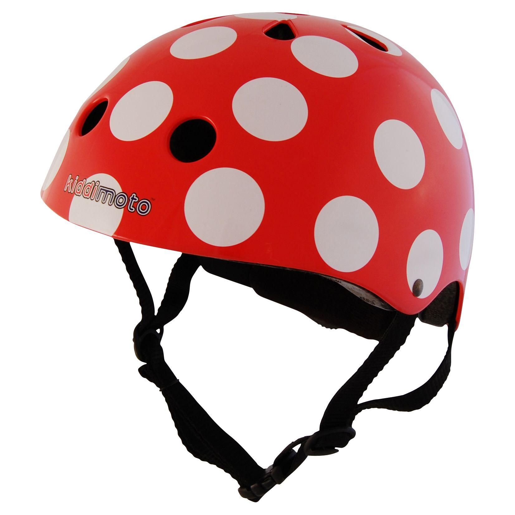 Kiddimoto Kiddimoto Red Dotty Helmet, Small