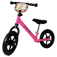 Buy Kiddimoto Junior Balance Bike, Neon Pink Online at johnlewis.com