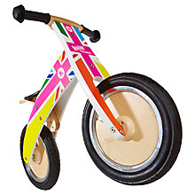 Buy Kiddimoto Kurve Balance Bike, Rainbow Union Jack Online at johnlewis.com