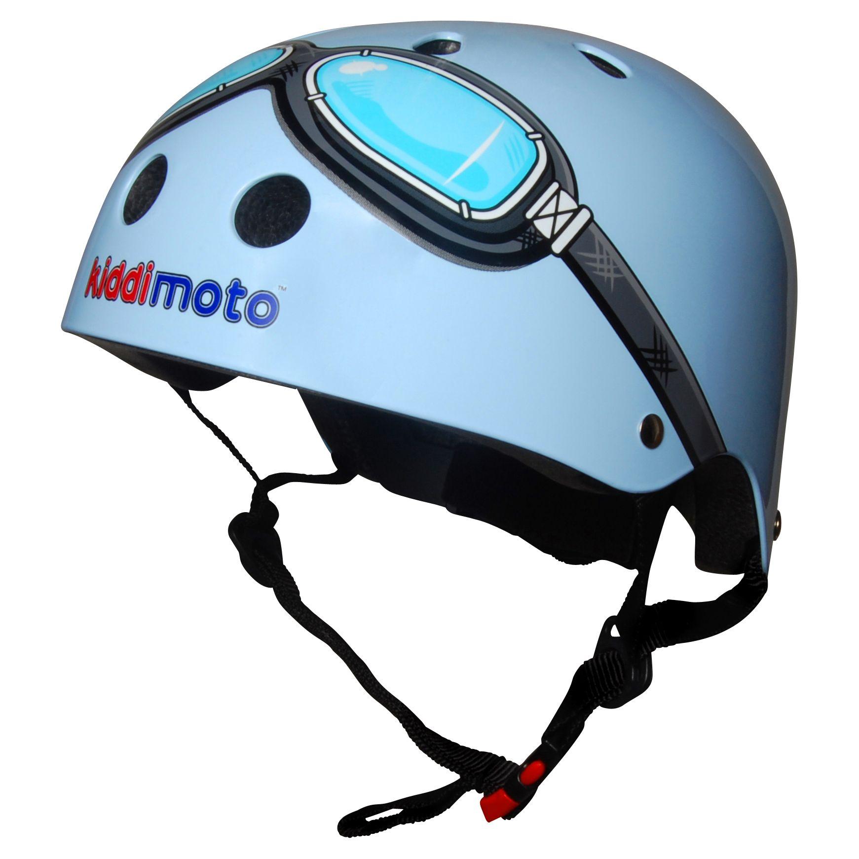 Kiddimoto Kiddimoto Blue Goggles Helmet, Small