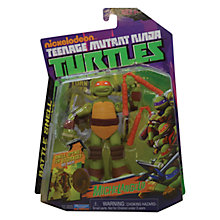 Buy Teenage Mutant Ninja Turtles Michelangelo Battle Shell Figure Online at johnlewis.com