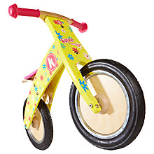 Buy Kiddimoto Kurve Balance Bike, Flower Online at johnlewis.com