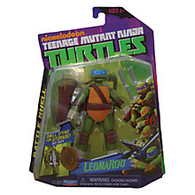 Buy Teenage Mutant Ninja Turtles Leonardo Battle Shell Figure Online at johnlewis.com