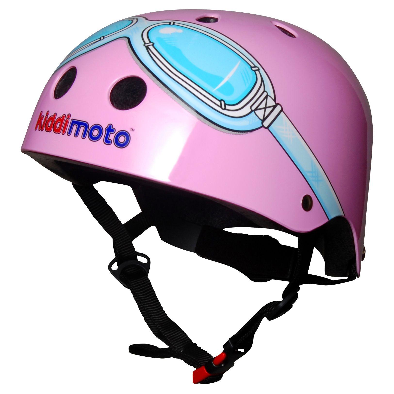 Kiddimoto Kiddimoto Pink Goggles Helmet, Small