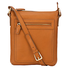 Buy John Lewis Carlyle Leather Small Square Across Body Bag, Tan Online at johnlewis.com