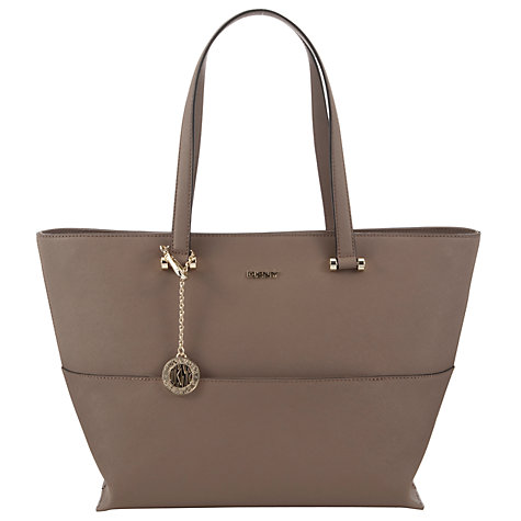 Buy DKNY Saffiano Leather Shopper Bag, Taupe Online at johnlewis.com