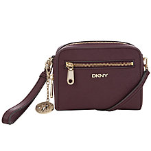 Buy DKNY Saffiano Strap Leather Clutch Bag, Brick Online at johnlewis.com
