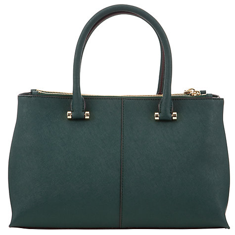 Buy DKNY Saffiano Leather Medium Shopper Bag, Green Online at johnlewis.com