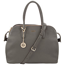 Buy DKNY Tribeca Triple Leather Satchel Bag, Grey Online at johnlewis.com