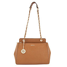 Buy DKNY Beekman Leather Crossbody Bag, Tan Online at johnlewis.com