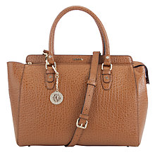 Buy DKNY Beekman Leather Satchel Bag, Tan Online at johnlewis.com
