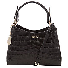 Buy DKNY Gramercy Crocodile Across Body Bag, Black Online at johnlewis.com
