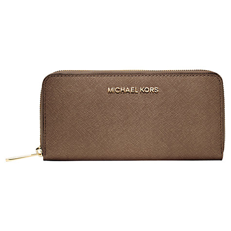 Buy MICHAEL Michael Kors Jet Set Travel Zip Around Leather Purse Online at johnlewis.com