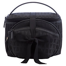Buy DKNY Leather Travel Set Bag, Black Online at johnlewis.com