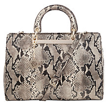 Buy DKNY Printed Python Leather Shopper Bag, Taupe Online at johnlewis.com