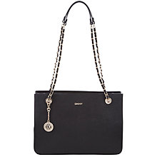 Buy DKNY Saffiano Leather Chain Shopper Bag Online at johnlewis.com
