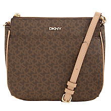 Buy DKNY Coated Logo Across Body Bag, Brown Mix Online at johnlewis.com